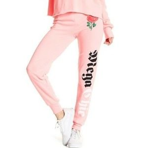 Wildfox Mega Chic Joggers Neon Pink (Sz: XS & M)